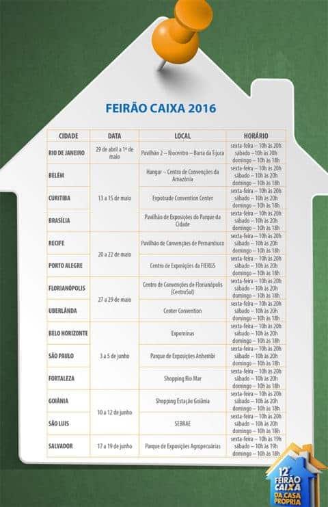 CAIXA promove Feirão da Casa Própria 2016